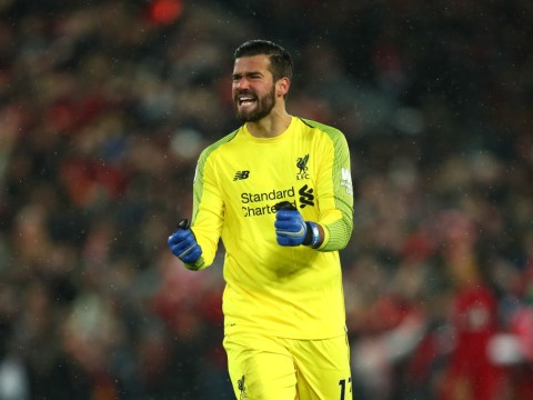 Andy Robertson praises Alisson after Liverpool 'keeper's blunder against Manchester United
