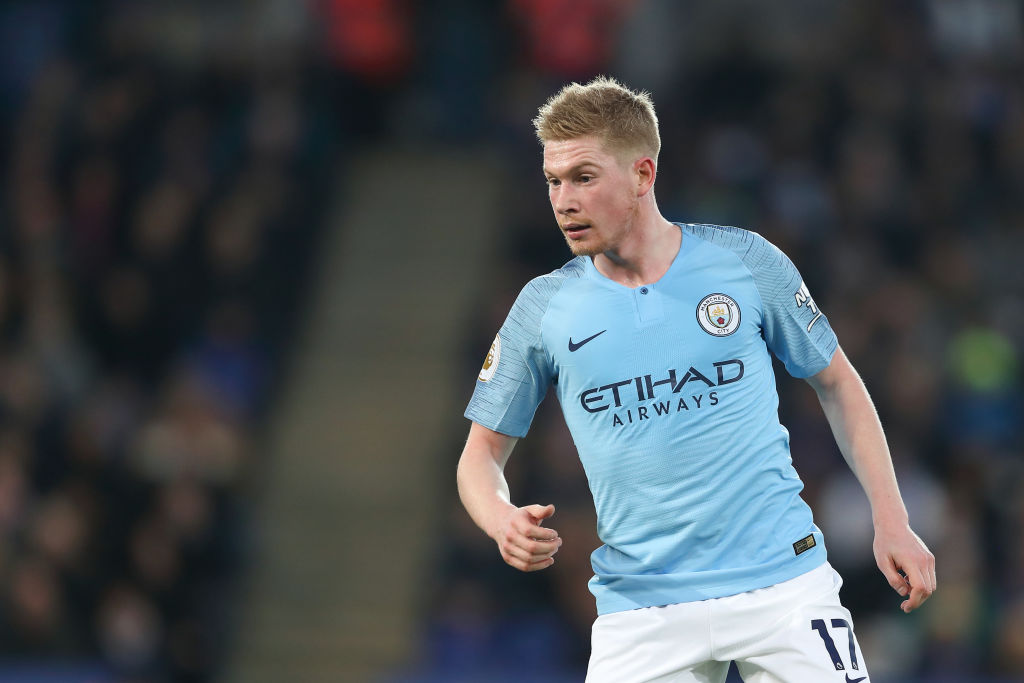 Kevin De Bruyne an injury doubt for Manchester City v Liverpool