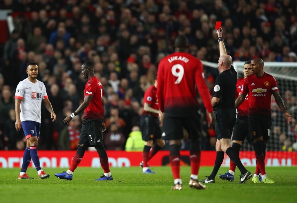 Manchester United's Eric Bailly to miss crucial Tottenham game after red card vs Bournemouth