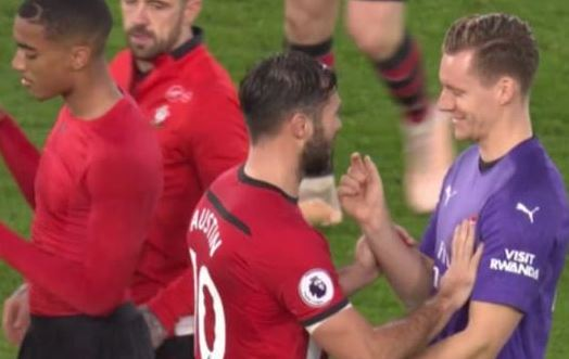 Bernd Leno joked with Charlie Austin after his error gifts Southampton win against Arsenal