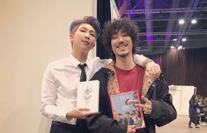 BTS leader RM hangs out with Tiger JK backstage at MAMAs after triumphant night