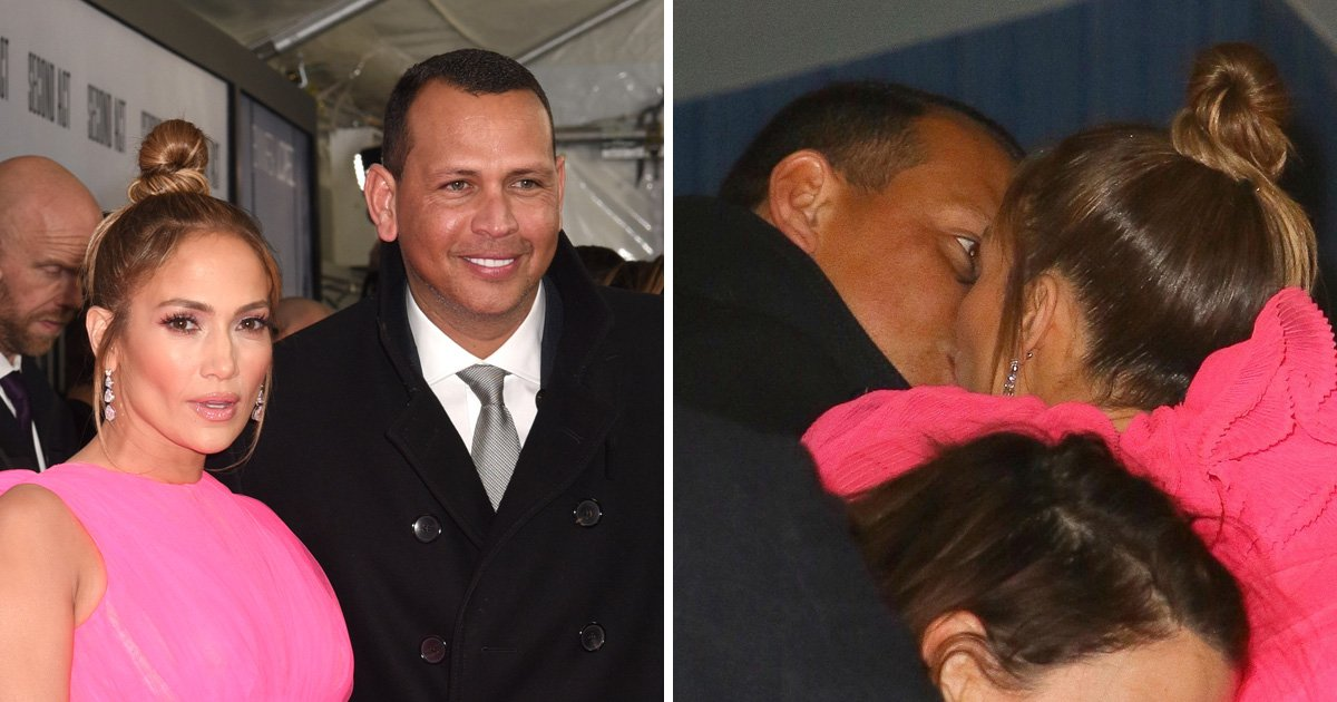 Jennifer Lopez and Alex Rodriguez turn up the PDA with passionate kiss at Second Act premiere