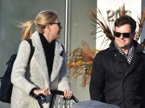 Dec Donnelly and wife Ali wrap up warm against UK chill after four weeks in I'm A Celeb jungle