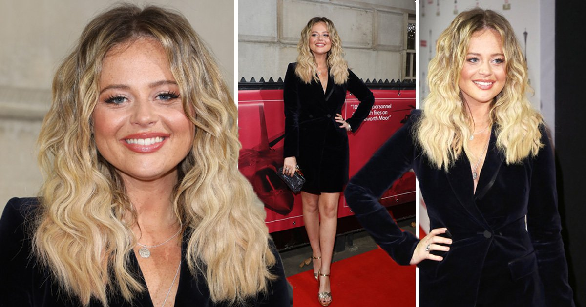 I'm A Celebrity's Emily Atack swaps jungle pants for red carpet glam at Military Awards