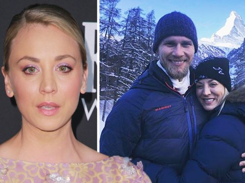 Big Bang Theory's Kaley Cuoco pelted with snowballs on romantic honeymoon with husband Karl Cook