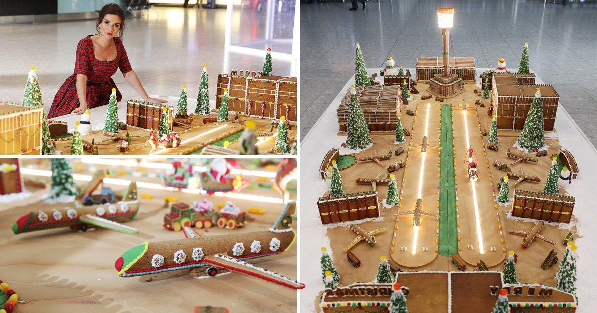 50kg gingerbread model of Heathrow Airport, Heathrow