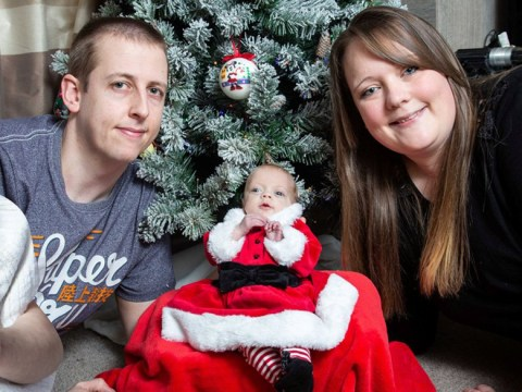 Baby born three months premature finally comes home for Christmas
