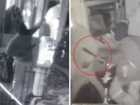 Machete-wielding man caught dancing on CCTV after robbing terrified family