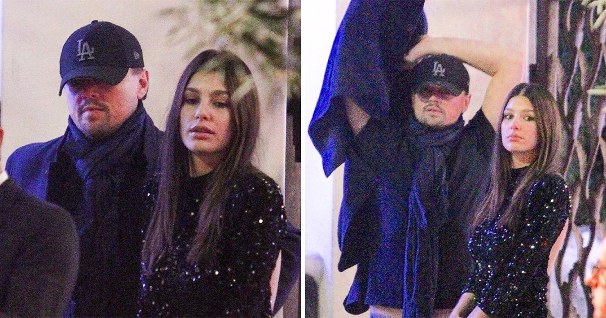 Leonardo DiCaprio and girlfriend Camila Morrone get into the festive spirit at Seth MacFarlane's Christmas party