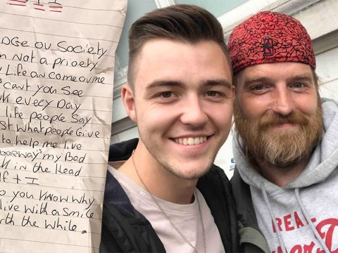 Homeless man melts the hearts of thousands by writing poems about his life