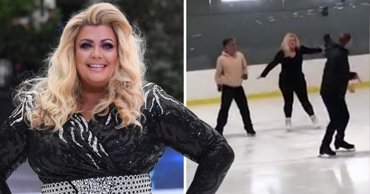Gemma Collins grinding on ice rink is everything