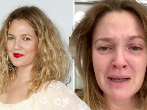 Drew Barrymore takes a selfie while crying to show truth behind Hollywood glamour