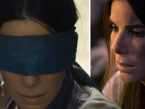 Why do the characters in Bird Box wear blindfolds?
