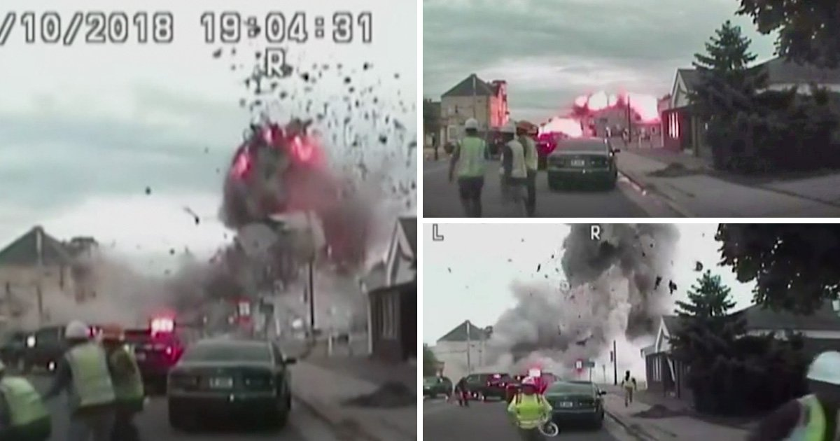 Dramatic footage of deadly gas explosion is released by police