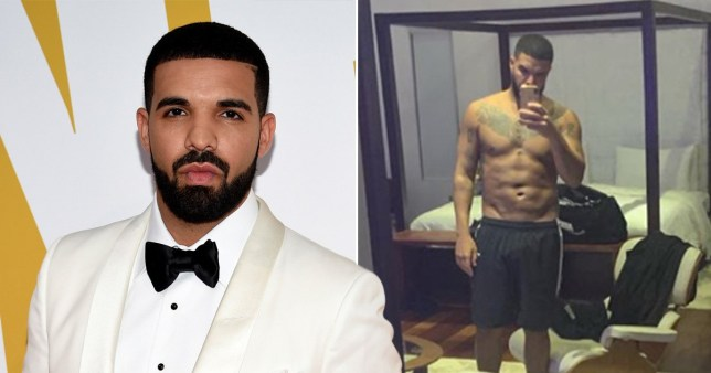 drake proudly reveals his ripped body with topless selfie
