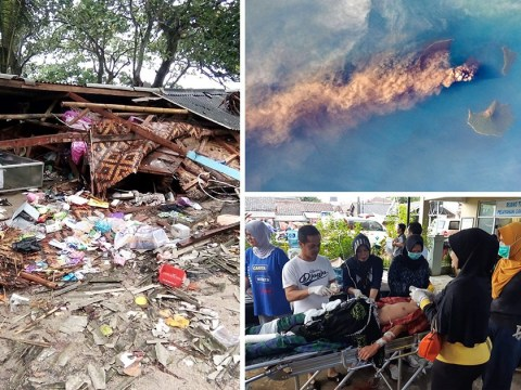 At least 222 dead in Indonesian tsunami which slammed into beaches without warning