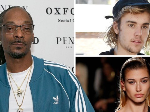 Snoop Dogg tries it on with Hailey Baldwin and Justin Bieber is having none of it