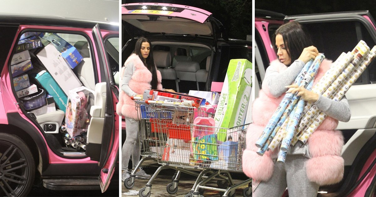 Katie Price cannot fit another present in her car as she 'spends £4,000' on Christmas gifts during extravagant shopping trip