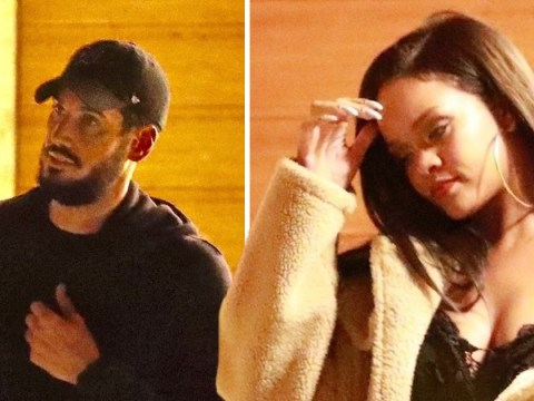 Rihanna makes another stealth exit from restaurant on date night with boyfriend Hassan Jameel