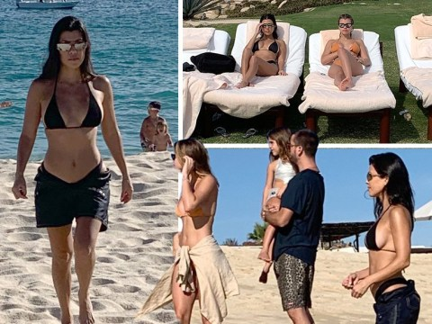 Scott Disick lords it up with ex Kourtney Kardashian, 39, and Sofia Richie, 20, as Khloe declares 'the Lord is back'