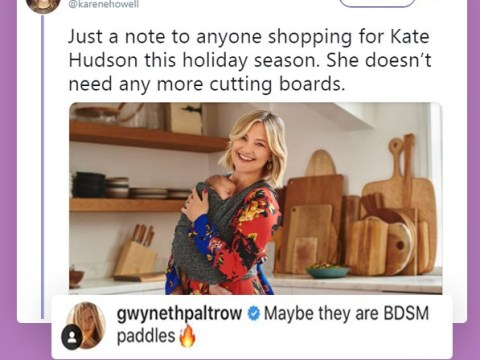Kate Hudson responds to that chopping board meme after Gwyneth Paltrow's BDSM comment