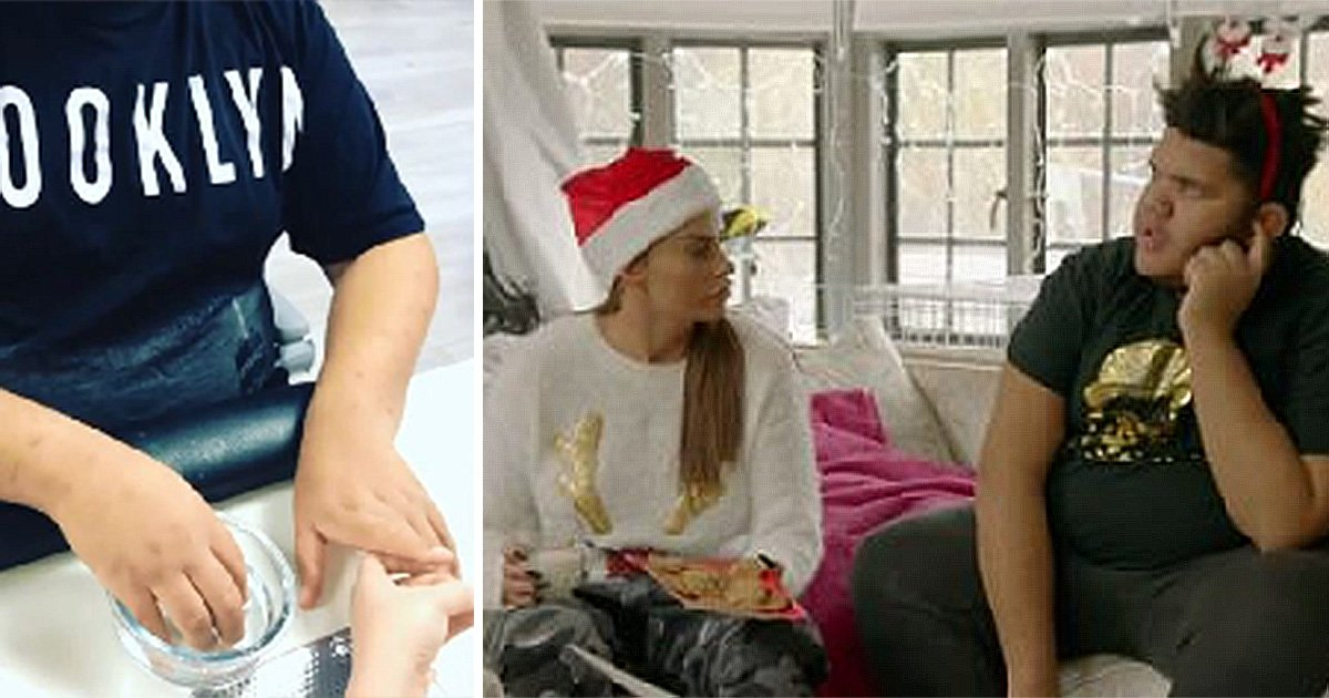 Katie Price treats son Harvey to his first manicure as they bond after Christmas