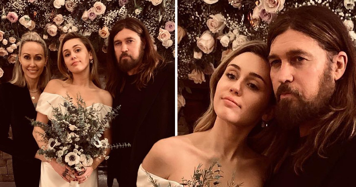 Sweet photos of Miley Cyrus with Billy Ray and Tish emerge days after secret wedding