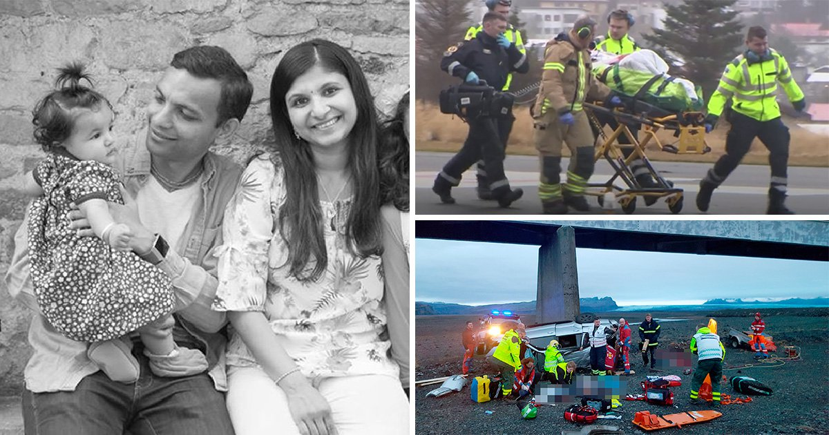 First photos of British woman killed when car plunged off bridge in Iceland