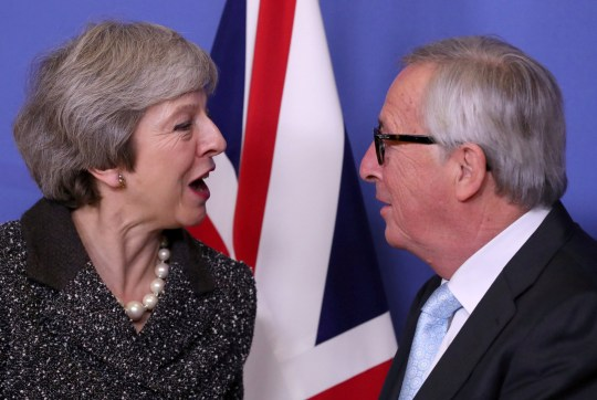 REFILE - CORRECTING LOCATION British Prime Minister Theresa May meets with European Commission President Jean-Claude Juncker to discuss Brexit, at the European Commission headquarters in Brussels, Belgium December 11, 2018. REUTERS/Yves Herman