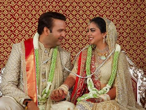 Indian heiress Isha Ambani dazzles in gold lehenga as she marries Andan Piramal in $100m wedding