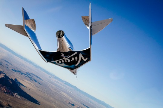 Undated handout file photo issued by Virgin Galactic of the Virgin Spaceship Unity (VSS Unity), which is undergoing final checks in preparation for a test flight from Mojave, California, to the edge of space. PRESS ASSOCIATION Photo. Issue date: Thursday December 13, 2018. See PA story AIR VirginGalactic. Photo credit should read: Virgin Galactic/PA Wire NOTE TO EDITORS: This handout photo may only be used in for editorial reporting purposes for the contemporaneous illustration of events, things or the people in the image or facts mentioned in the caption. Reuse of the picture may require further permission from the copyright holder.