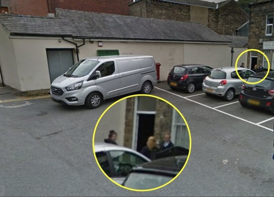 PIC FROM Google Maps / Kennedy News and Media (PICTURED: HEBDEN BRIDGE FUNERAL SERVICES BACK ENTRANCE WITH FUNERAL DIRECTOR PAULA BRENNAN VISIBLE OUTSIDE) A funeral director has hit out at a ???sniggering jobsworth??? traffic warden who ticketed her private ambulance as she was unloading a dead body. Gobsmacked Paula Brennan was horrified to learn that the warden had slapped a penalty notice on the vehicle???s windscreen next to a large sign which reads ???funeral director on coroner???s call out???. Paula, owner of Hebden Bridge Funeral Services, had parked the vehicle at the back of the property to quickly and respectfully remove the body from the vehicle and safely move her into the home at 2pm yesterday. SEE KENNEDY NEWS COPY - 0161 697 4266