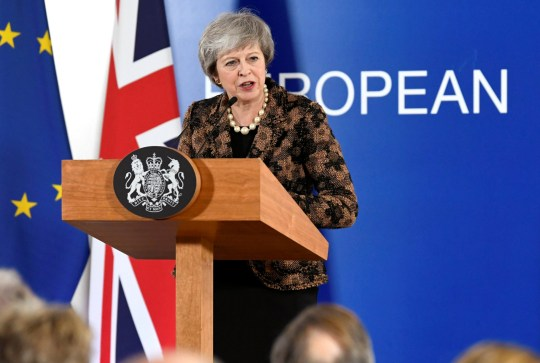 British Prime Minister Theresa May attends a news conference after a European Union leaders summit in Brussels, Belgium December 14, 2018. REUTERS/Piroschka Van De Wouw