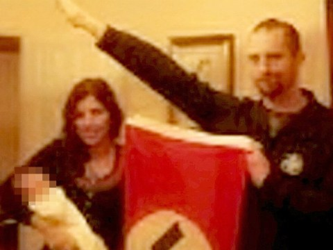 Dad 'sent video of daughter doing Nazi salute to couple who named baby Adolf'