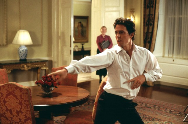 Editorial use only. No book cover usage. Mandatory Credit: Photo by Universal/Dna/Working Title/Kobal/REX/Shutterstock (5884946ad) Hugh Grant Love Actually - 2003 Director: Richard Curtis Universal/Dna/Working Title UK Scene Still Comedy