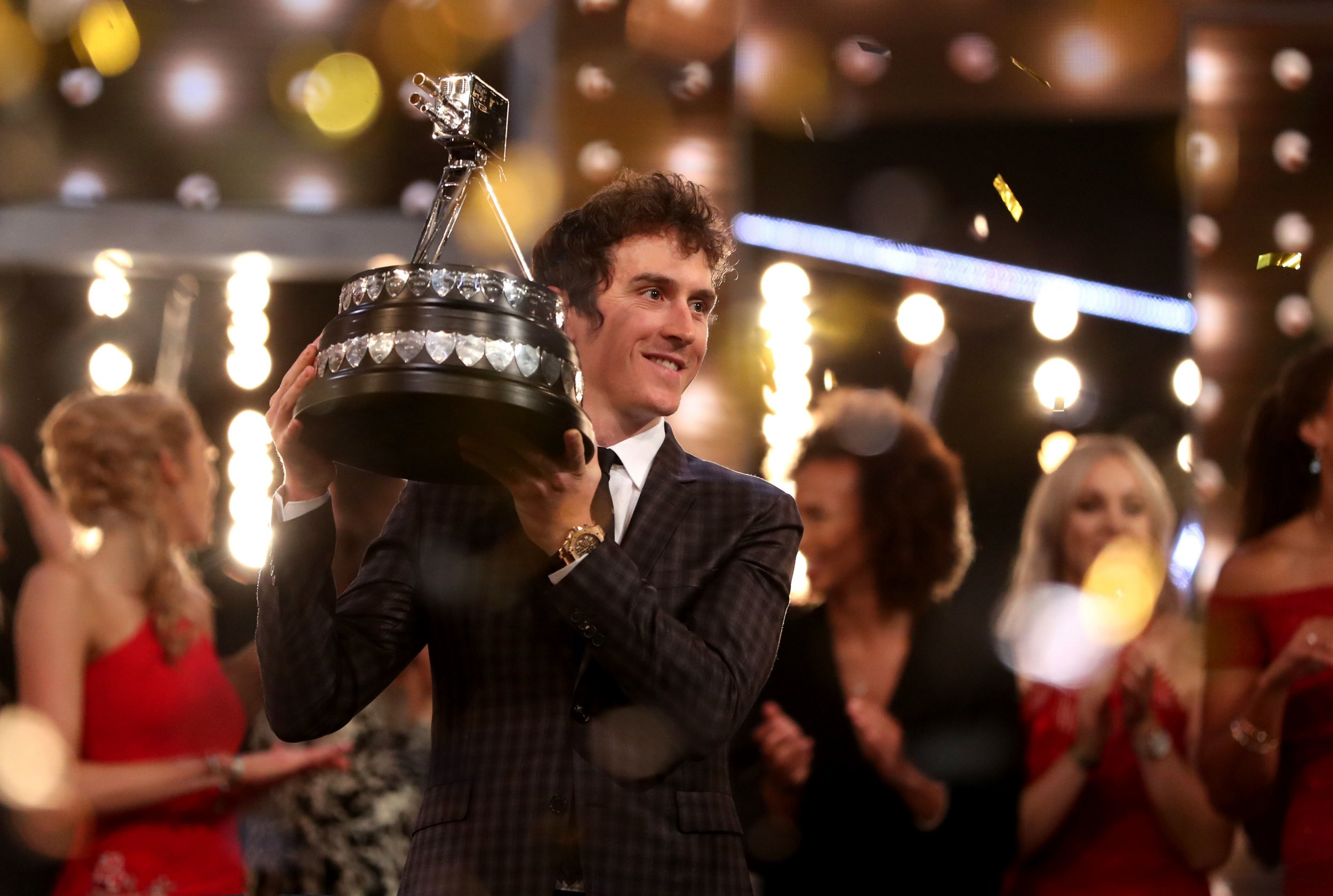 Geraint Thomas poses after winning the BBC Sports Personality of the Year award during the BBC Sports Personality of the Year 2018 at Birmingham Genting Arena. PRESS ASSOCIATION Photo. Picture date: Sunday December 16, 2018. See PA story SPORT Personality. Photo credit should read: David Davies/PA Wire