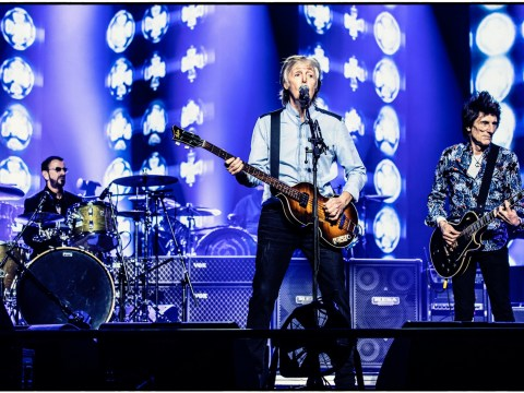 Paul McCartney and Ringo Starr stage mini-Beatles reunion during huge London show