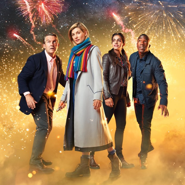 WARNING: Embargoed for publication until 00:00:01 on 11/12/2018 - Programme Name: Doctor Who - TX: n/a - Episode: n/a (No. n/a) - Picture Shows: **STRICTLY EMBARGOED UNTIL 11/12/2018 00:00:01** Graham (BRADLEY WALSH), The Doctor (JODIE WHITTAKER), Yaz (MANDIP GILL), Ryan (TOSIN COLE) - (C) BBC / BBC Studios - Photographer: Henrik Knudsen