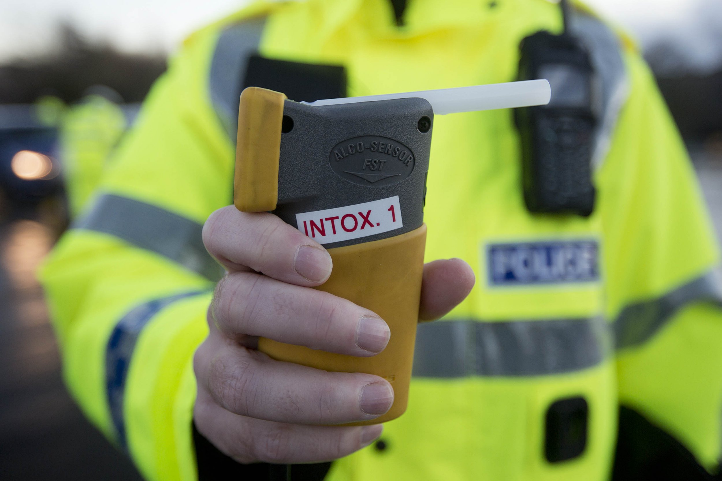 Mandatory Credit: Photo by Michael Mcgurk/REX/Shutterstock (4277937c) Local traffic police stopped drivers at Crown Street in Glasgow as part of the annual festive drink drive campaign Drink-drive limit cut in Scotland, Britain - 05 Dec 2014 The drink drive limit in Scotland has changed. A new law has come into force which makes the legal drink-drive limit in Scotland lower than elsewhere in the UK. The change reduces the legal alcohol limit from 80mg to 50mg in every 100ml of blood.