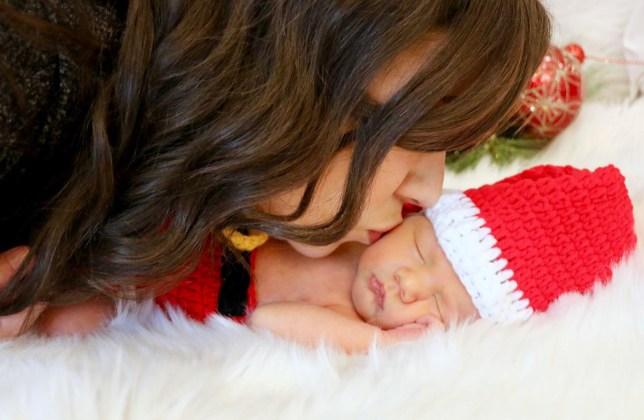 Colleen Ballinger newborn shoot