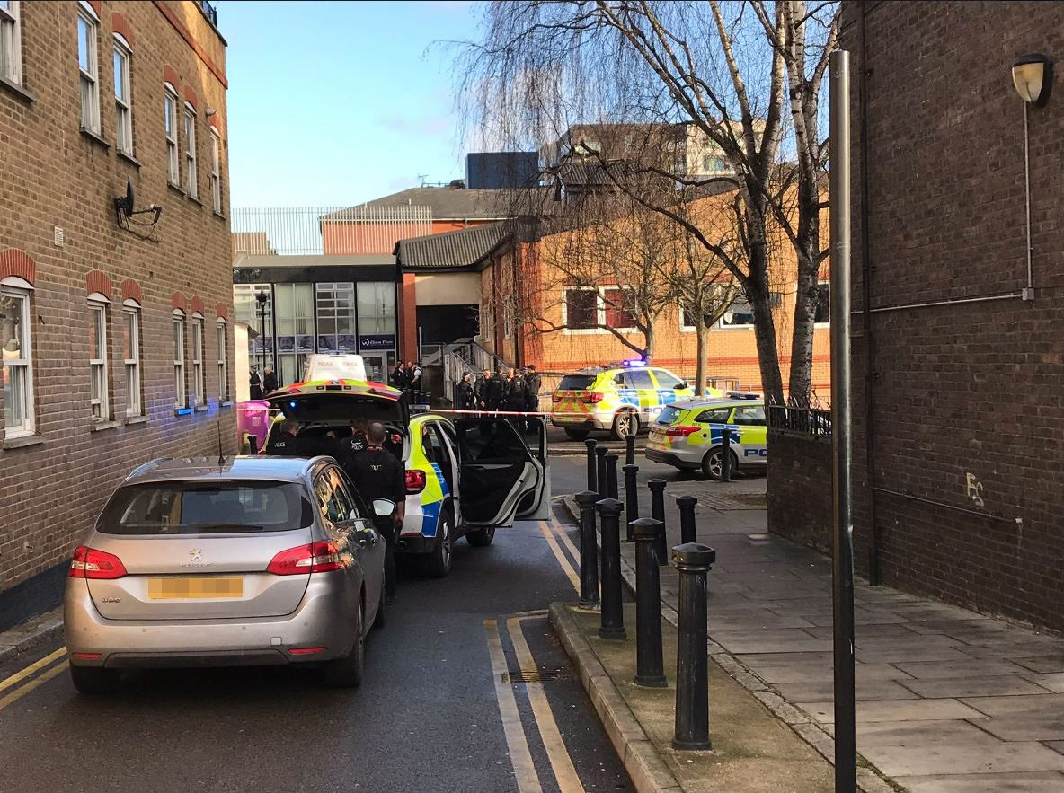 """Police say they are attending an """"incident"""" at St Stephens Health Centre near Roman Road in east London - one male has been arrested."""