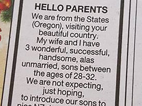Dad places dating advert for three 'unmarried, handsome' sons without their knowledge