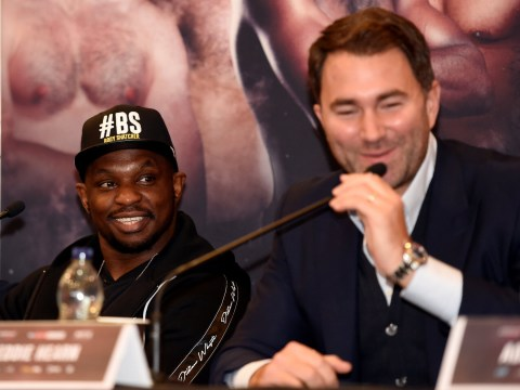 Eddie Hearn denies Dillian Whyte favourite to fight Anthony Joshua in April