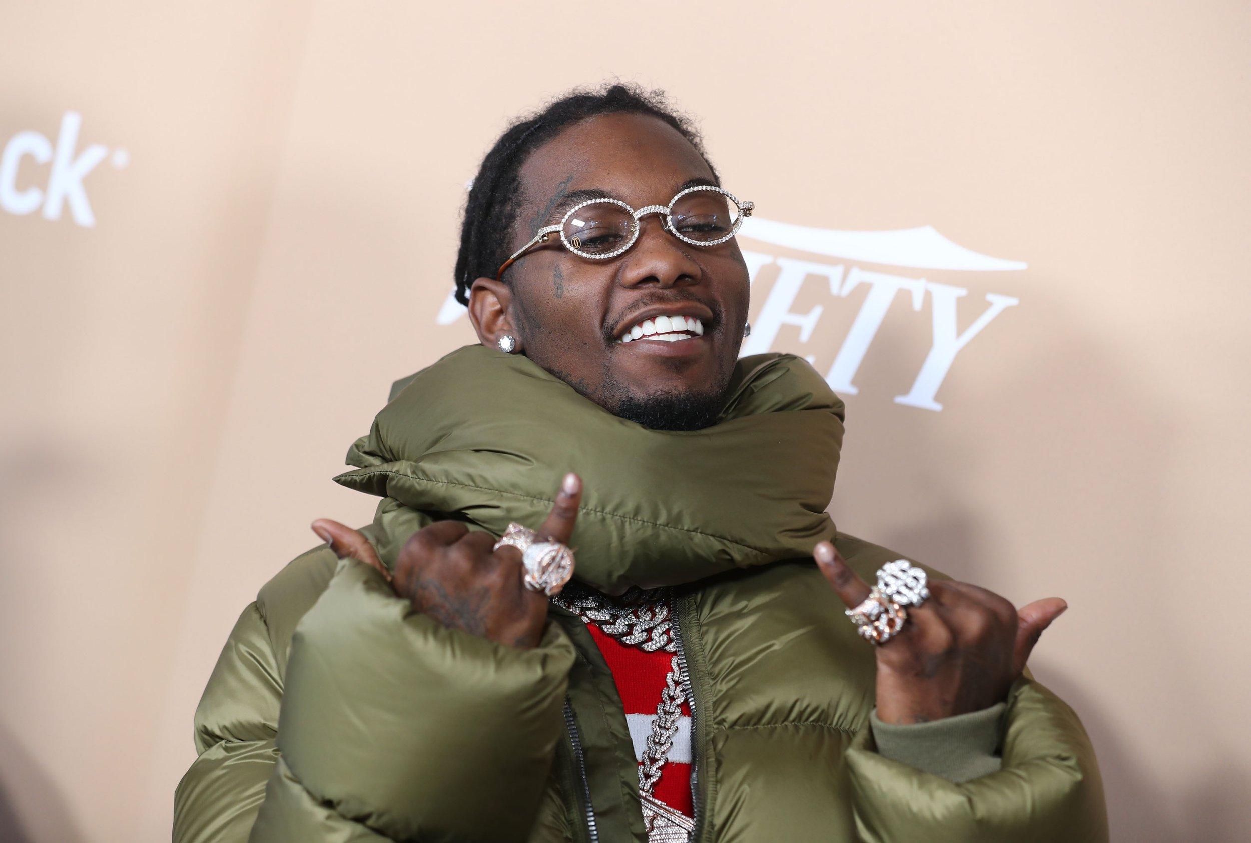Mandatory Credit: Photo by John Salangsang/Variety/REX/Shutterstock (10011073aq) Offset attends the Second Annual Variety Hitmakers Brunch at The Sunset Tower Hotel on December 1, 2018 in West Hollywood. Variety Hitmakers Brunch, Arrivals, Los Angeles, USA - 01 Dec 2018