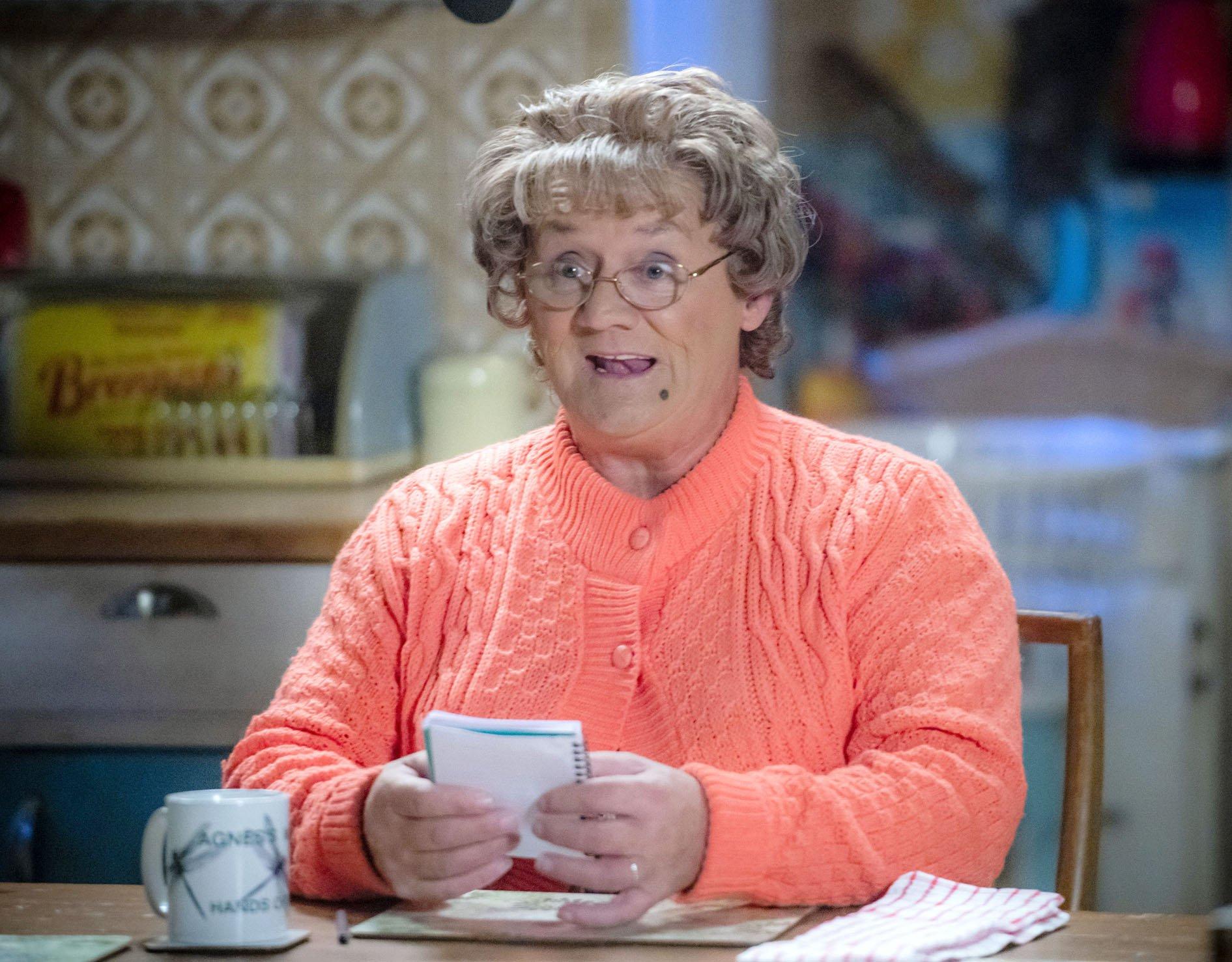 WARNING: Embargoed for publication until 00:00:01 on 11/12/2018 - Programme Name: Mrs Brown's Boys Christmas and New Year Special - TX: n/a - Episode: n/a (No. n/a) - Picture Shows: **STRICTLY EMBARGOED NOT FOR PUBLICATION BEFORE 00:01 HRS ON TUESDAY 11TH DECEMBER 2018** Mrs Brown (BRENDAN O???CARROLL) - (C) BBC Studios - Photographer: Alan Peebles