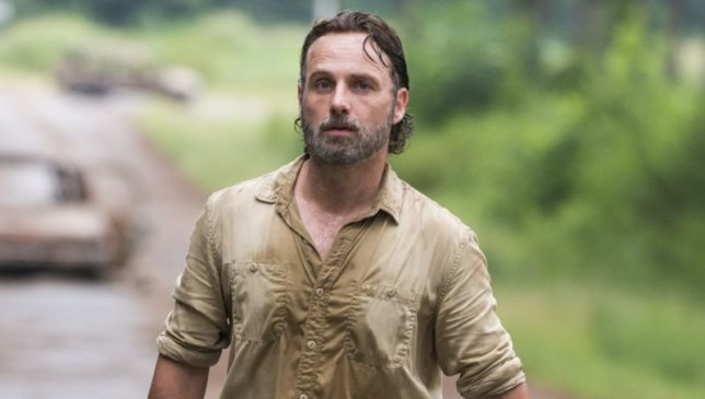 Andrew Lincoln playing Rick Grimes in The Walking Dead