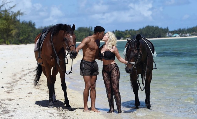 BGUK_1435022 - MAURITIUS, MAURITIUS - *PREMIUM-EXCLUSIVE* - *MUST CALL FOR PRICING* *WEB EMBARGO UNTIL 7:40pm ON 23/12/18* Love Island's Megan Barton Hanson seen horse riding along the beach with Wes Nelson while on a romantic holiday in Mauritius. Pics taken: 14/12/2018 Pictured: Megan Barton Hanson and Wes Nelson BACKGRID UK 23 DECEMBER 2018 BYLINE MUST READ: ZJ / BACKGRID UK: +44 208 344 2007 / uksales@backgrid.com USA: +1 310 798 9111 / usasales@backgrid.com *UK Clients - Pictures Containing Children Please Pixelate Face Prior To Publication*