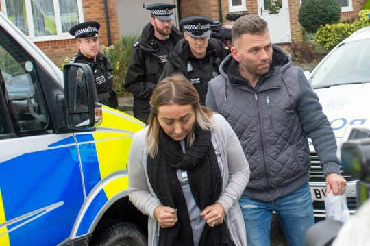 Paul Gait, 47, and his wife Elaine, 54, arriving home after were arrested in the wake of the Gatwick caused by a drone flying over the airfield. Crawley, 23rd December 2018