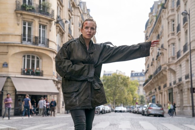 For use in UK, Ireland or Benelux countries only Undated BBC handout photo of Villanelle, played by Jodie Comer, in season two of Killing Eve. PRESS ASSOCIATION Photo. Issue date: Monday December 24, 2018. See PA story SHOWBIZ KillingEve. Photo credit should read: Aimee Spinks/BBC America/BBC/PA Wire NOTE TO EDITORS: Not for use more than 21 days after issue. You may use this picture without charge only for the purpose of publicising or reporting on current BBC programming, personnel or other BBC output or activity within 21 days of issue. Any use after that time MUST be cleared through BBC Picture Publicity. Please credit the image to the BBC and any named photographer or independent programme maker, as described in the caption.