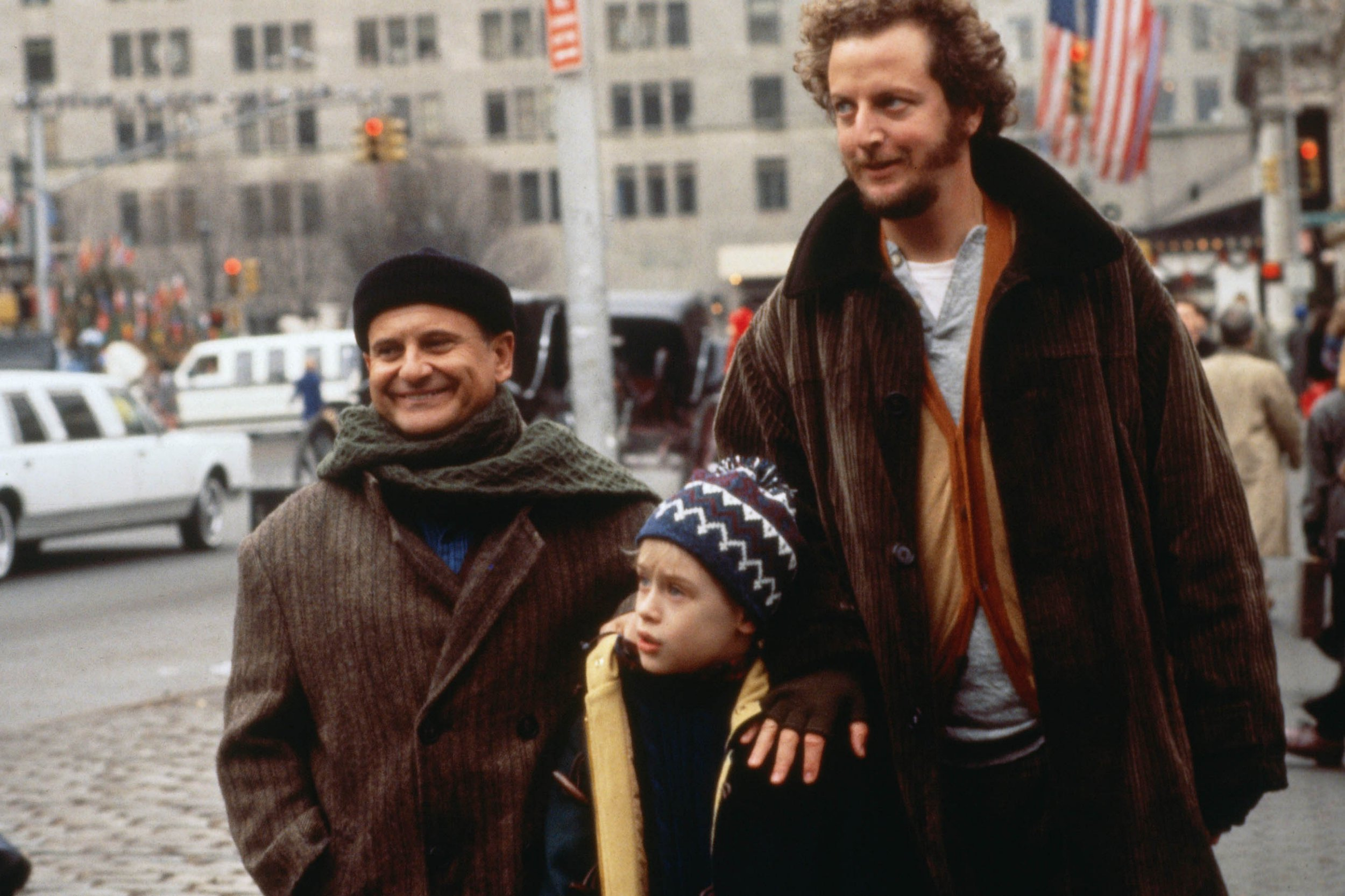 Joe Pesci, Macaulay Culkin and Daniel Stern